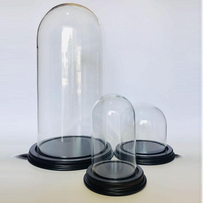 grands globes de diam tres 25 40 cm cloches en verre veramy com. Black Bedroom Furniture Sets. Home Design Ideas
